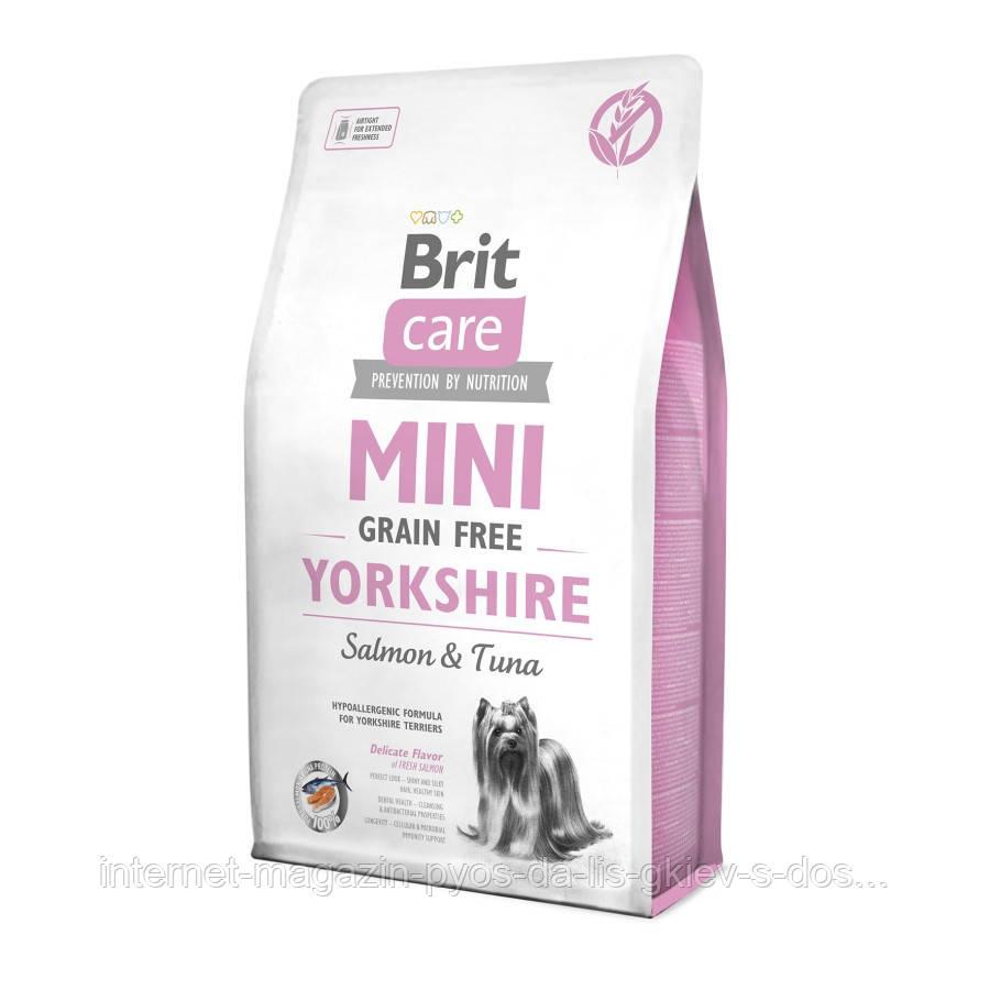 Brit Care Mini Grain Free Yorkshire сухий гіпоалергенний корм для йоркширських тер'єрів, 2кг