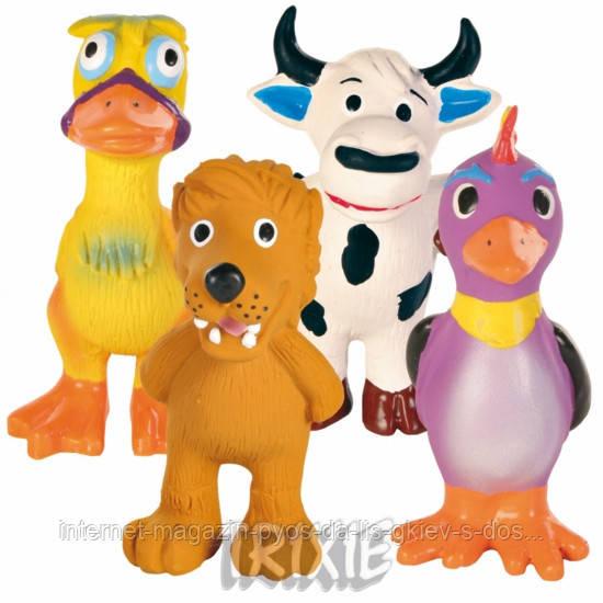 Trixie Assortment Animals Latex набор игрушек латекс 11см, 4шт