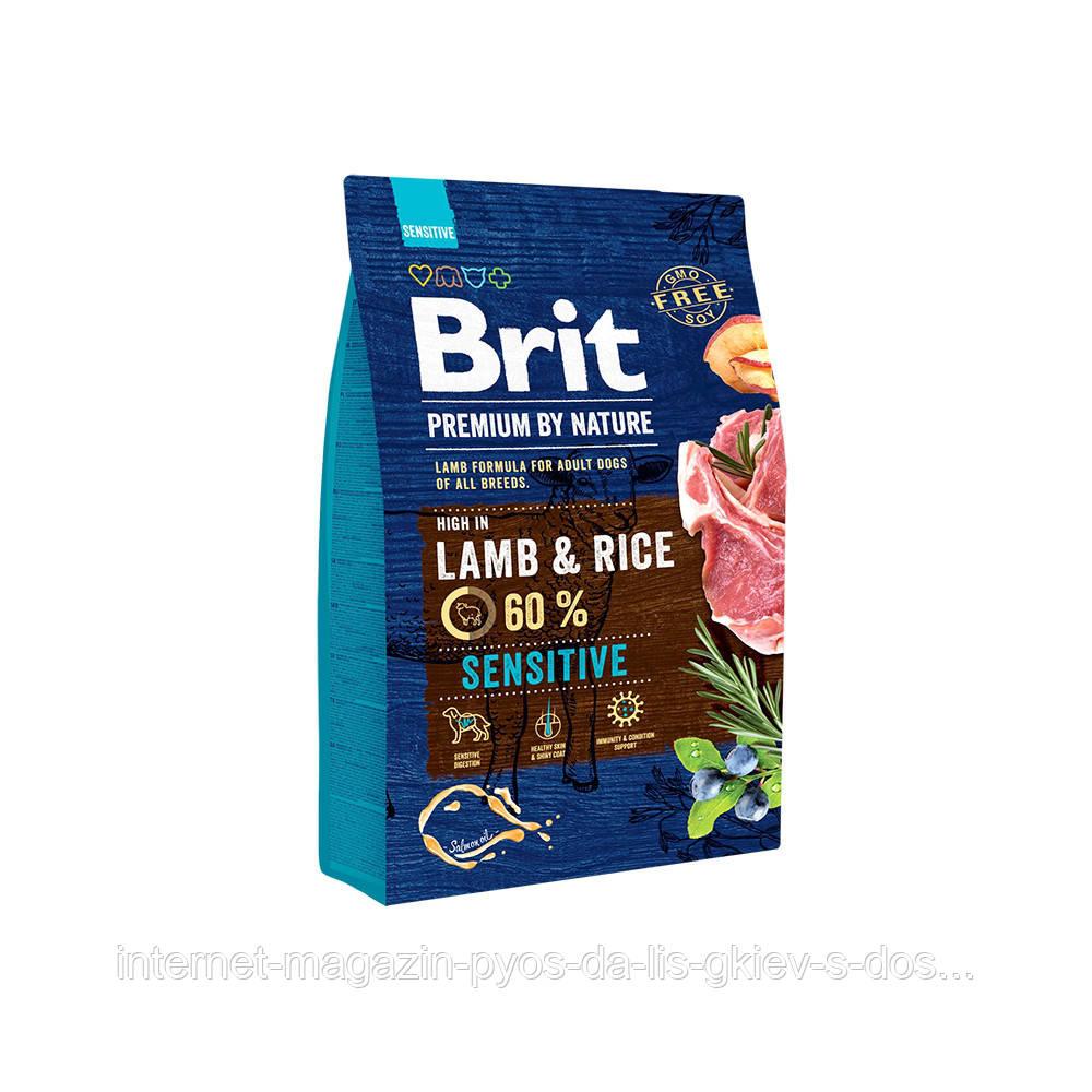 Brit Premium by Nature Sensitive Lamb and Rise корм для собак с чувствительным пищеварением, 3кг