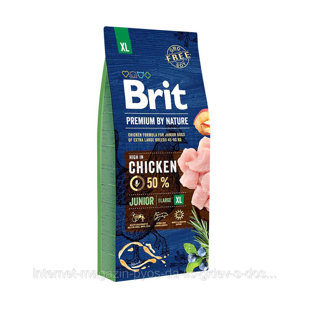 Brit Premium by Nature Junior XL корм для щенков гигантских пород, 15кг