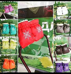 """Теплі рукавиці на санки та дитячі візочки в ассортименті """"Сніжинка"""""""