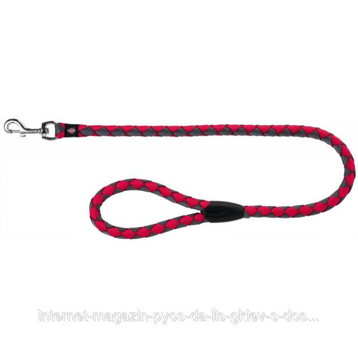 Trixie Cavo Leash S-M круглый поводок для собак фуксия-графит 1м х 12мм