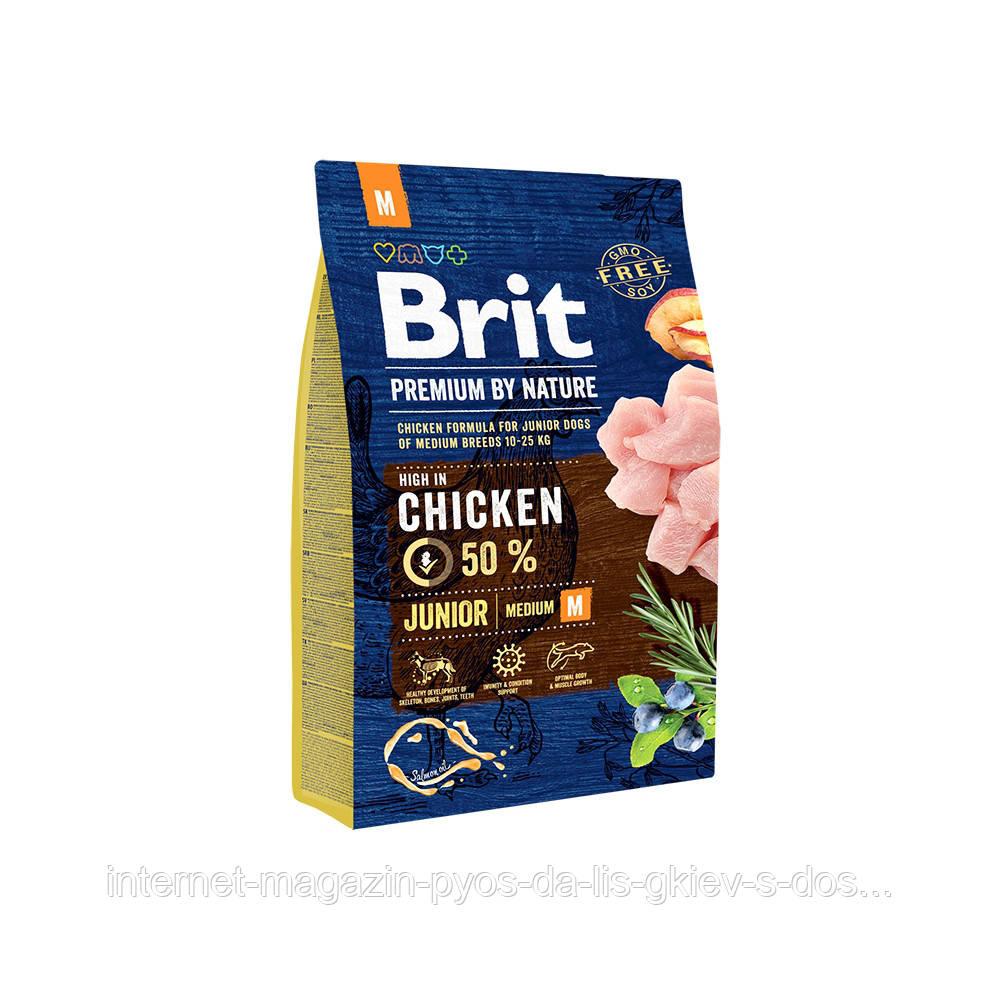 Brit Premium by Nature Junior M корм для щенят середніх порід, 3кг