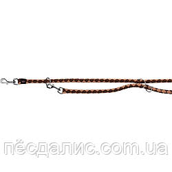 Trixie Cavo Adjustable Leash L-XL круглый поводок-перестежка для собак мокка-карамель 2м х 18мм