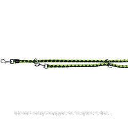 Trixie Cavo Adjustable Leash L-XL круглый поводок-перестежка для собак оливковый - ярко-зеленый 2м х 18мм