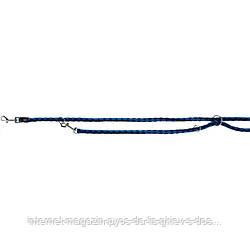 Trixie Cavo Adjustable Leash S-M круглый поводок-перестежка для собак индиго-королевский синий 2м х 12мм