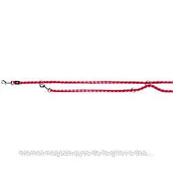 Trixie Cavo Adjustable Leash S-M круглый поводок-перестежка для собак фламинго-фуксия 2м х 12мм