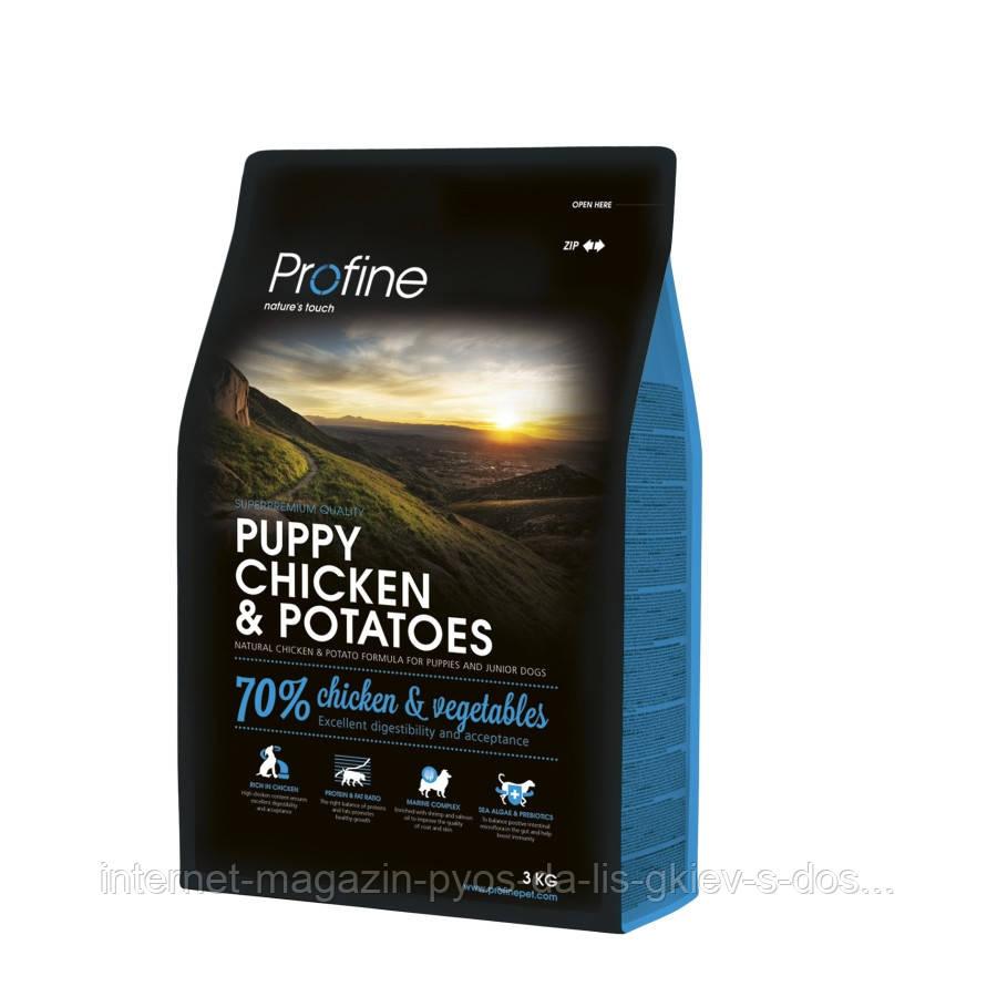 Profine Puppy Chicken and Potatoes корм для щенков с курицей и картофелем, 3кг
