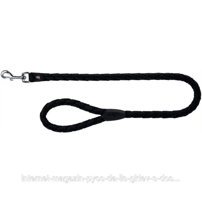 Trixie Cavo Leash L-XL круглый поводок для собак черный 1м х 18мм