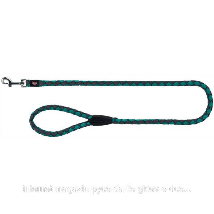 Trixie Cavo Leash S-M круглий поводок для собак морська хвиля-графіт 1м х 12мм
