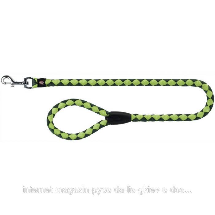 Trixie Cavo Leash S-M круглий поводок для собак оливковий - яскраво-зелений 1м х 12мм