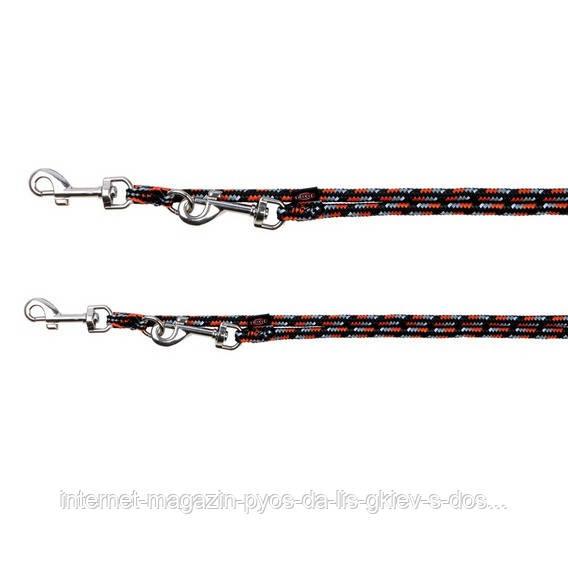 Trixie Mountain Rope Adjustable Leash L-XL повідець-перестежка для собак 2м, 13мм