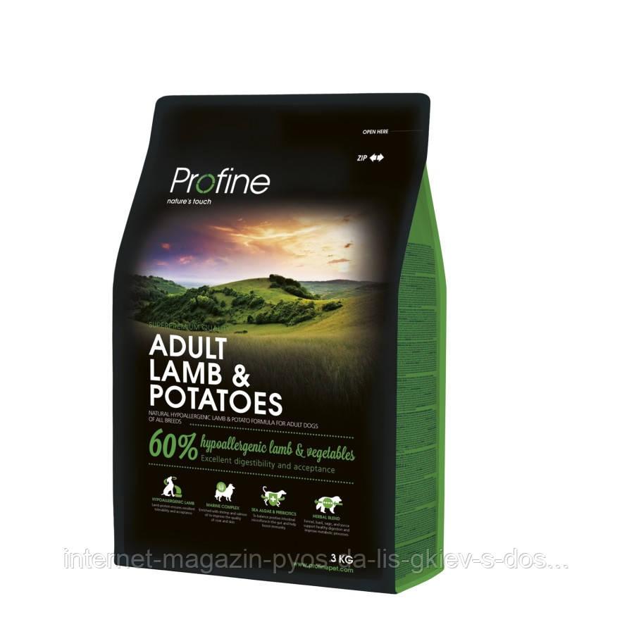 Profine Adult Lamb and Potatoes корм для взрослых собак с ягненком и картофелем (гипоаллергенный), 3кг