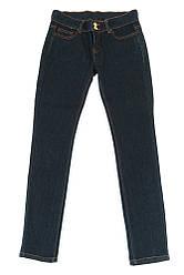 Джинсы женские чернильные, прямые 19PL111-1 (Чернильно-синий)
