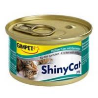 Gimpet ShinyCat Chicken with shrimp влажный корм для кошек с курочкой и креветками, 70гр