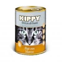 KIPPY консервированный корм для кошек с говядиной (паштет), 400г