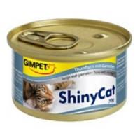 Gimpet ShinyCat Tuna with shrimp влажный корм для кошек с тунцом и креветками, 70гр