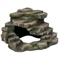 Trixie угловая скала с пещерой декорация Грот со ступеньками 26х20х26см