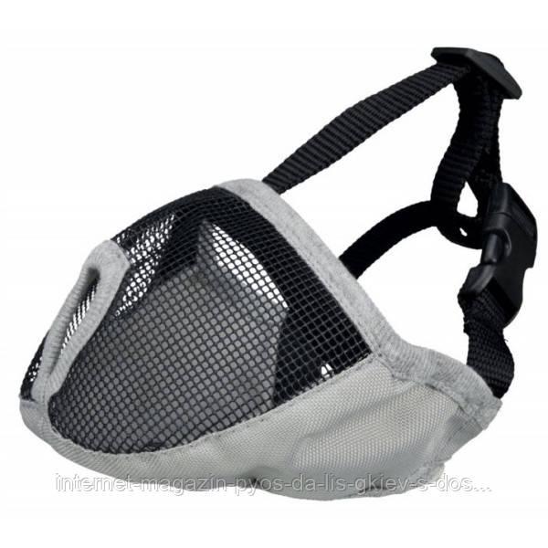 Trixie Muzzle XS-S тканевый намордник для брахицефалов серый 15см