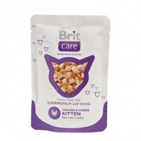 Brit Care Cat Chicken and Cheese Pouch паучи для котят с курицей и сыром, 80г