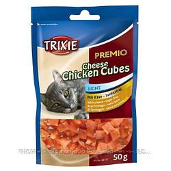 Trixie PREMIO Cheese Chicken Cubes лакомство-кубики с сыром и курицей для котов, 50г