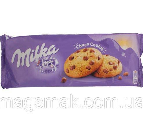 Печиво Milka з шматочками молочного шоколаду, 168 г