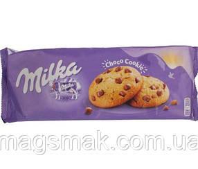Печенье Milka с кусочками молочного шоколада, 168 г