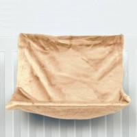 Trixie гамак для кошки на радиатор бежевый, 48х26х30 см