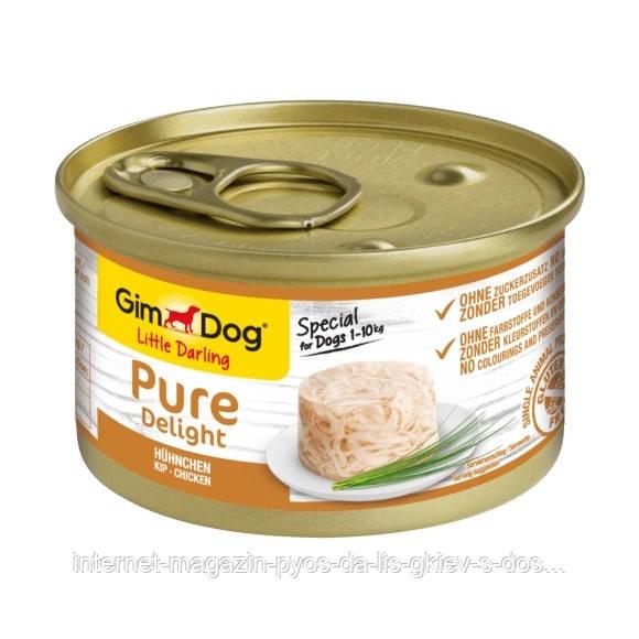 GimDog LD Pure Delight Chicken влажный корм с курицей в желе для собак малых пород (1-10 кг), 85г