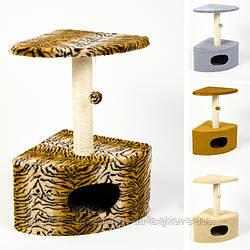 Когтеточка Д11 угловая для кошек ТМ Природа 39х39х65см