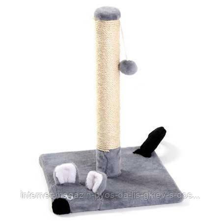 Когтеточка-столбик Мышка для кошек ТМ Природа 32х32х50см