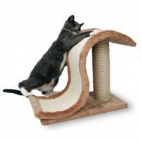 Когтеточка драпак-горка Волна со столбиком Trixie для котов, 44х25х39 см