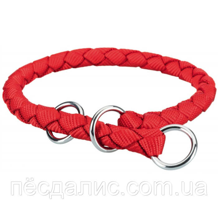 Trixie Cavo Stop-the-pull Collar M круглый ошейник-удавка для собак красный 39-45см х 12мм