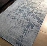 Блідо блакитний килим з рослинної шовку, фото 3