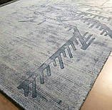 Блідо блакитний килим з рослинної шовку, фото 4