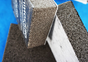 Пеностекло с битумным покрытием или оштукатуренное 600х450*120 мм