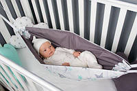 Детский гамак тканевый, размер 80*120см 1-3 года, люлька качель подвесная детская тканевая