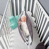 Детский гамак тканевый, размер 80*120см 1-3 года, люлька качель подвесная детская тканевая, фото 3