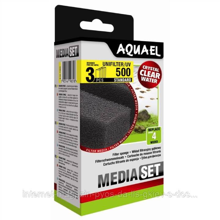 Aquael MEDIA SET STANDARD UNIFILTER 500 вкладыш губка в фильтр Aquael UNIFILTER 500, 3шт