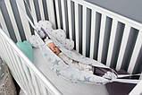 Детский гамак тканевый, размер 80*120см 1-3 года, люлька качель подвесная детская тканевая, фото 2