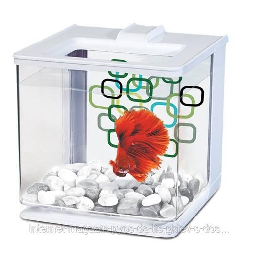 Hagen Marina Betta EZ Care White аквариум для петушка белый, 2.5л
