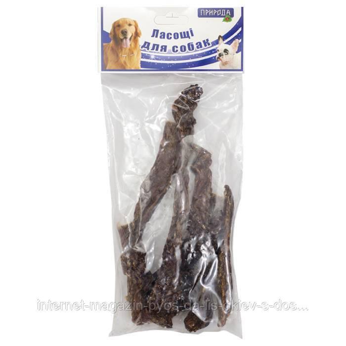 Природа Пищевод говяжий натуральное лакомство для собак, 100г