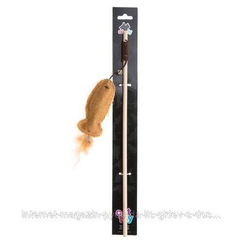 Aquael Comfy GAIA rybka игрушка для кошек удочка с рыбкой 40см