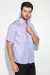 Рубашка мужская принтованная 50P00013 (Сиреневый)