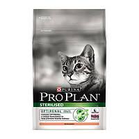 Про План Sterilised сухой корм для стерилизованных кошек с лососем 1,5КГ
