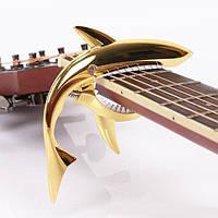 Каподастр для гитары ALICE SHARK GC-02 GOLD