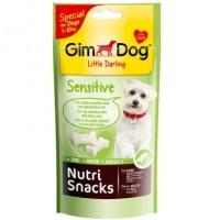 GimDog Little Darling Nutri Snacks Sensitive снеки для чутливої шкіри собак від 1 до 10 кг, 40г