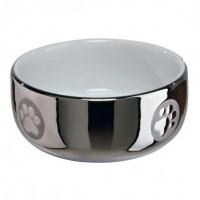 Trixie миска керамическая серебристая, 0.3л