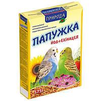 Природа Папужка йод плюс эхинацея полноценный корм для волнистых попугаев, 575г