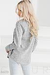 Стильный теплый реглан серого цвета с принтом, фото 3